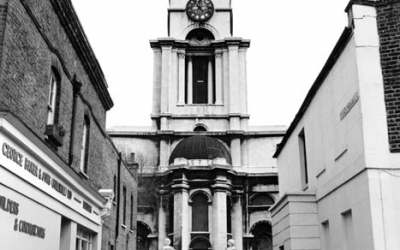 St Annes Church Limehouse 1974