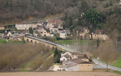 The panoramic view of Dordogne