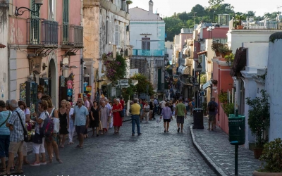 The Via Roma in Ischia Porto