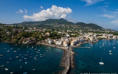 Looking from the Aragonese castle over Ischia Ponte