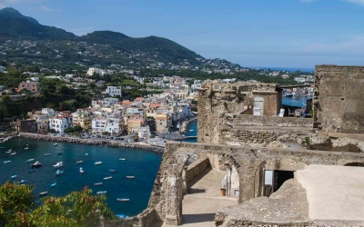 Looking from the castle over Ischia Ponte