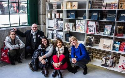 The press team in Mons Memorial Museum