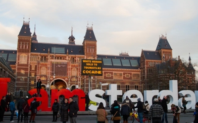 I amsterdam (the symbol of Amsterdam) in front of The Rijksmuseum