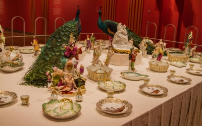 a dinner setting at the Hermitage -Amsterdam
