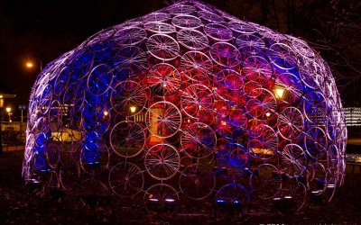 Amsterdam Light Festival - Bicycle Dome