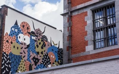 The street art