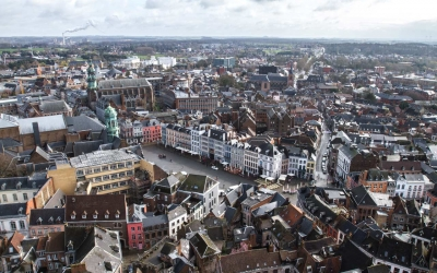 The view of Mons from Baroque Belfry