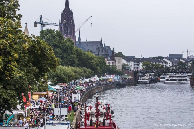 In Frankfurt during festival time