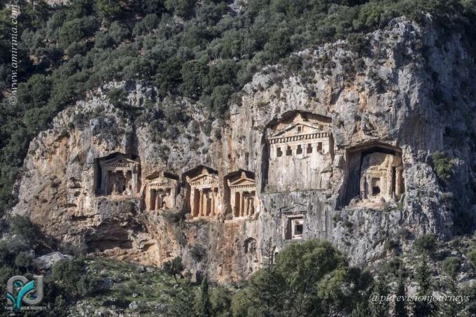 The rock-cut tombs of Dalyan